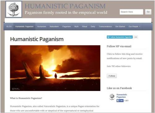 Humanistic Paganism website