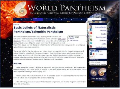 World Pantheist Movement website